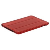 Кожаный чехол книга HOCO Crystal leather Case Red для Apple iPad mini