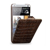 Кожаный чехол TETDED Wild Series Brown Crocodile для HTC One M7