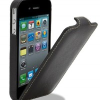 Кожаный чехол книга Melkco Leather Case (Black LC) для Apple iPhone 4/4S