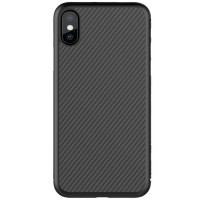 Пластиковый чехол Nillkin Synthetic Fiber Black (черный) для Apple iPhone X/ iPhone XS