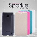Полиуретановый чехол Nillkin Sparkle Leather Case Black для Nokia Lumia 630(#3)