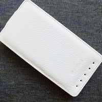 Кожаный чехол Melkco Leather Case White LC для HTC One M7