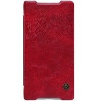Кожаный чехол Nillkin Qin Leather Case Red для Sony Xperia Z5