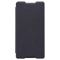 Полиуретановый чехол Nillkin Sparkle Leather Case Black для Sony Xperia Z4