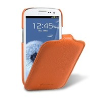 Кожаный чехол Melkco Leather Case Orange LC для Samsung i9300 Galaxy S3