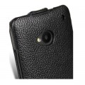 Кожаный чехол Melkco Leather Case Black LC для HTC One M7(#4)