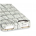 Кожаный чехол-книга TETDED Troyes White Crocodile для Apple iPhone 5/5S/5SE(#4)