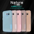Силиконовый чехол Nillkin Nature TPU Case Blue для Samsung G925F Galaxy S6 Edge(#4)