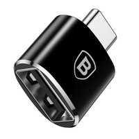 Адаптер Baseus Exquisite Type-C Male to USB Female Adapter Converter 2.4A Black, CATJQ-B01