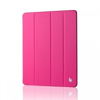 Кожаный чехол Jisoncase Executive Smart Cover Pink для Apple iPad 4/3/2