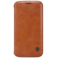 Кожаный чехол Nillkin Qin Leather Case Brown для Samsung G925F Galaxy S6 Edge