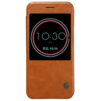 Кожаный чехол Nillkin Qin Leather Case Brown для HTC 10