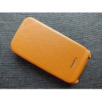 Кожаный чехол Nuoku Royal Series Brown для HTC Desire S