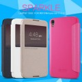 Полиуретановый чехол Nillkin Sparkle Leather Case Black для Alcatel One Touch Idol 3 (5.5) 6045Y(#4)