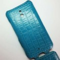 Кожаный чехол Abilita Leather Case Blue Crocodile для Nokia Lumia 1320(#4)