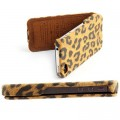 Кожаный чехол Nuoku Leopard Series Case Brown для Apple iPhone 4/4S(#3)