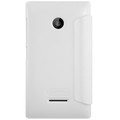 Полиуретановый чехол Nillkin Sparkle Leather Case White для Nokia Lumia 435(#2)