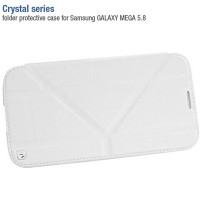 Кожаный чехол книжка HOCO Crystal leather Case White для Samsung i9150 Galaxy Mega 5.8