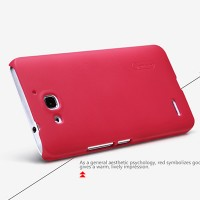 Пластиковый чехол Nillkin Super Frosted Shield Red для Huawei Ascend G750 Honor 3X
