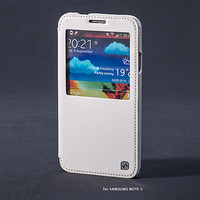 Кожаный чехол HOCO Crystal leather Case White для Samsung N9000 Galaxy Note 3