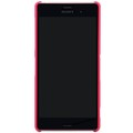 Пластиковый чехол Nillkin Super Frosted Shield Bright Red  для Sony Xperia Z3 D6603(#2)