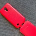 Кожаный чехол Melkco Leather Case Red LC для Samsung i9190 Galaxy S4 mini(#4)