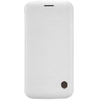 Кожаный чехол Nillkin Qin Leather Case White для Samsung G925F Galaxy S6 Edge