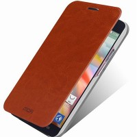 Полиуретановый чехол Mofi Book Case Brown для Alcatel One Touch Idol X+ 6043D