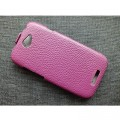 Кожаный чехол Melkco Leather Case Purple LC для HTC One S(#2)