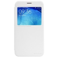 Полиуретановый чехол Nillkin Sparkle Leather Case White для Samsung Galaxy J5