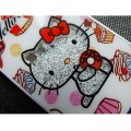 Пластиковый чехол Hello Kitty White Crystal для Apple iPhone 5/5S/5SE(#3)