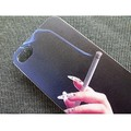 Пластиковый чехол Hand with a cigarette Black для Apple iPhone 4/4S(#2)