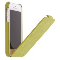 Кожаный чехол книга Borofone Crocodile flip Green для Apple iPhone 5/5S/5SE
