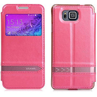 Полиуретановый чехол Usams Merry Series Pink для Samsung G850 Galaxy Alpha