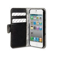 Кожаный чехол книга Melkco Leather Case Wallet Type Black LC для Apple iPhone 5/5S/5SE