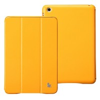 Кожаный чехол Jisoncase Executive Smart Cover Orange для Apple iPad mini 3