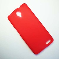 Силиконовый чехол Becolor Red Mat для Alcatel One Touch Idol X 6040