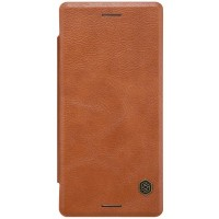 Кожаный чехол Nillkin Qin Leather Case Brown для Sony Xperia X