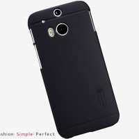 Пластиковый чехол Nillkin Super Frosted Shield Black для HTC One M8