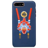 Кожаная накладка Nillkin Brocade Series Blue Monkey King для Apple iPhone 7 Plus