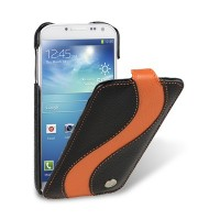Кожаный чехол Melkco Leather Case Black/Orange LC для Samsung i9190 Galaxy S4 mini