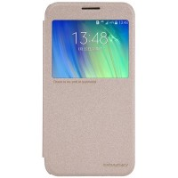 Полиуретановый чехол Nillkin Sparkle Leather Case Gold для Samsung Galaxy E7