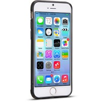 Пластиковый чехол HOCO Steel Double Series Black для Apple iPhone 6 Plus/6s Plus