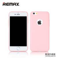 Силиконовый бампер Remax Jelly TPU Case Pink Mate для Apple iPhone 6/6S