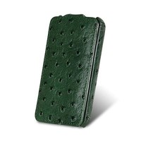Чехол Melkco Leather Case Ostrich Pattern Green для Samsung i9100 Galaxy S2