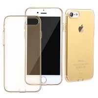 Силиконовый бампер Baseus Simple Series Case With Pluggy Gold для Apple iPhone 7/iPhone 8