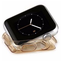 Силиконовый чехол Baseus TPU Case Gold для Apple Watch 42mm Series 1\2\3