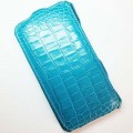 Кожаный чехол Abilita Leather Case Blue Crocodile для Nokia Lumia 1320(#1)