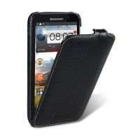 Кожаный чехол Melkco Leather Case Black LC для Lenovo IdeaPhone A850