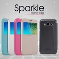 Полиуретановый чехол Nillkin Sparkle Leather Case Blue для Samsung Galaxy E5(#4)